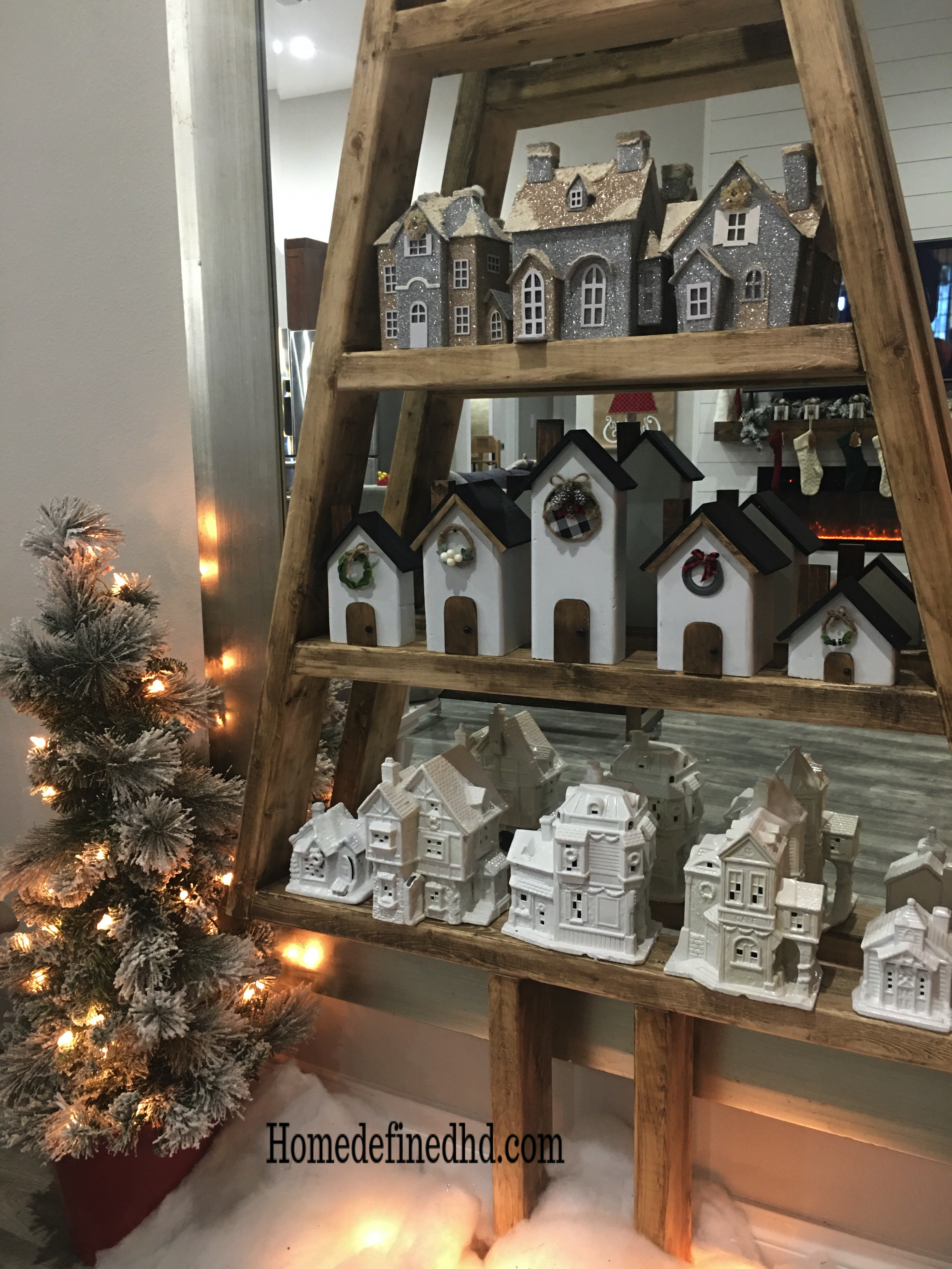 Diy Wooden Christmas Village Home Defined